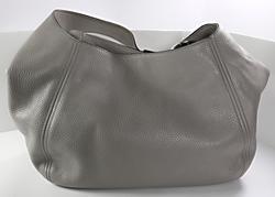 Michael Kors Gray Fulton Slouch Leather Bag