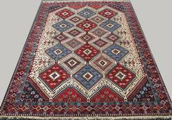 Enchanting 1960s Authentic Handmade Vintage Persian Akstafa