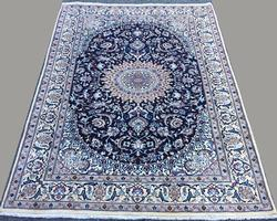 Utterly Captivating Fine Authentic Handmade Part Silk Royal Persian Nain