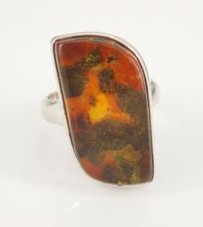 Sterling Silver Amber Ring Vintage