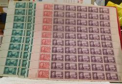 6 sheets Franklin D Roosevelt Stamps, 1945   $4.00 face
