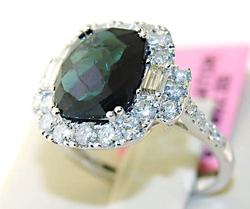 Gorgeous 18kt Gold 4+ctw Tourmaline & Diamond Ring