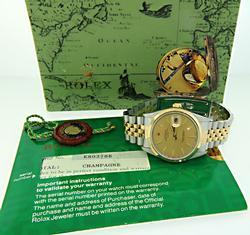 1990 Rolex Datejust 14K/SS