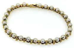 Pearl & Gold Bar Bracelet