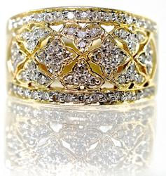 Exciting Modern Diamond Cluster Ring