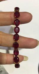 14kt Gold Ruby Tennis Bracelet