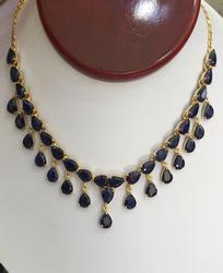 48 Carat Sapphire & 14kt Gold Necklace
