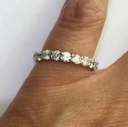 18kt Gold Diamond Eternity Band