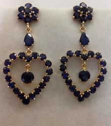 14kt Gold Sapphire Earrings