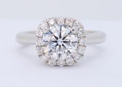 GIA Certified Scott Kay 1.25CTW Diamond Engagement Ring