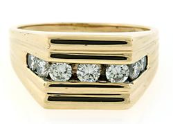 Gents Channel Set Diamond Ring