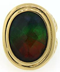 Colorful Ammolite Shell Ring