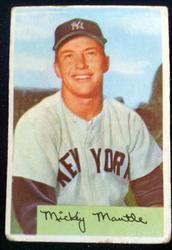 1954 Bowman #65 Mickey Mantle (HOF)