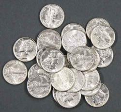 25 Choice Gem BU 1941 Mercurys