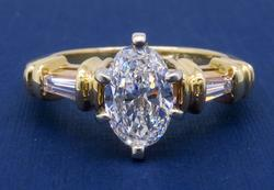 GIA Certified 1.11CTW Oval Cut Engagement Ring