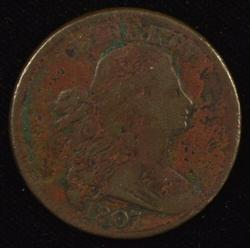 Scarce 1807 Draped Bust Large Cent. Sharp