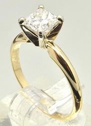 14 KT YELLOW GOLD DIAMOND ENGAGEMENT RING