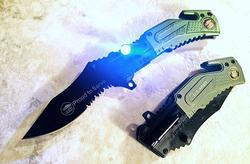 US ARMY Spring Assisted Pocket Folding Knife with LED