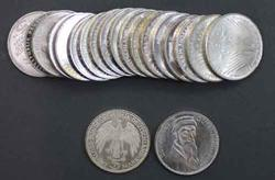 20 Different BU German Silver Commemerotive 5 Marks 1968-79