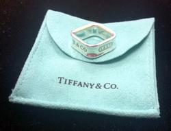 Tiffany & Co. 1837 Square Ring Sterling Silver .925