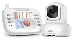 Baby Monitor w/ Night Vision Temp Sensor & 2-Way Audio