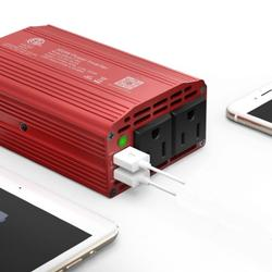 Power Inverter w/ 2 AC outlets & 2 USB ports charging