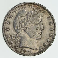 1904-O Barber Half Dollar - Circulated