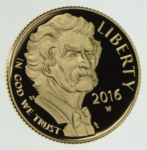 2016 W 5 00 Mark Twain Gold Commemorative Coin