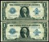 2 very nice 1923 Series Large Size $1 Silver Certs