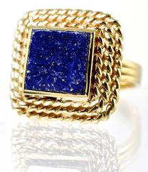 Unique 14K Lapis Ring
