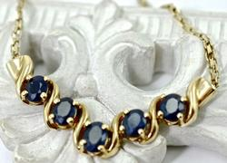 Lovely Sapphire and 14K Gold Necklace