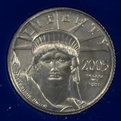 Superb Gem BU 2005 pure Platinum $10 Eagle in holder