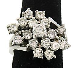 Fantastic Diamond Cluster Ring at 2.0 CTW