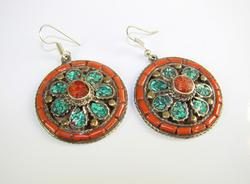 Fascinating Ethnic Handmade Multi Gemstone Earrings