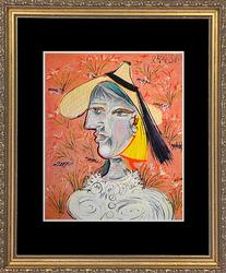 'Woman With Straw Hat' Pablo Picasso
