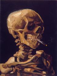 Van Gogh -  Skull With Cigarette