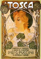 Leopolodo Melticovitz - Beautiful Vintage Poster - Tosca