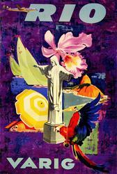 Amazing Vintage Poster - Rio Varig