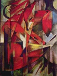 Franz Marc - Foxes on Fine Art Paper