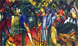 Auguste Macke  - Zoological Gardens on Archival Paper