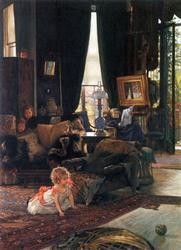 James Tissot  - Hide And Seek on Canvas