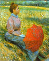Frederico Zancomeneghi - Lady In The Meadow on Canvas