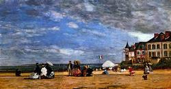 Eugene Boudin - The Beach Trouville