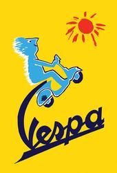 Beautiful Vintage Poster - Vespa