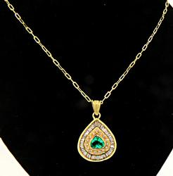 Amazing 1+ctw Emerald & Diamond Pendant