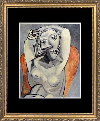 Picasso 'Woman Sitting In Red Arm Chair'