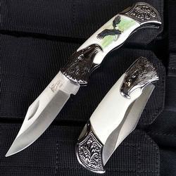 Silver BoneEdge Eagle bolsters handle Stainless Steel Knife