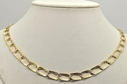 Heavy 14kt Gold Link Design Necklace