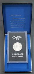 1883 GSA Uncirculated Carson City Morgan Silver Dollar with box and paper