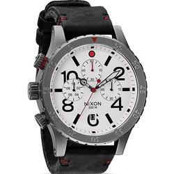 New Nixon Left Hand Chronograph, Black Leather